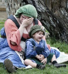 Ums Baby kümmern